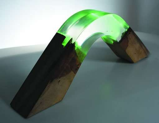 Resin and Wood Lamp - Arch