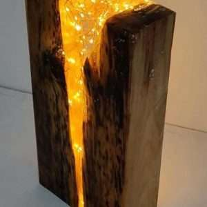 Resin and Wood Lamp Block
