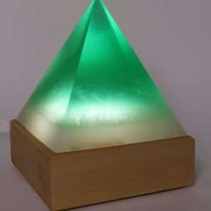 Resin and Wood Lamp Pyramid