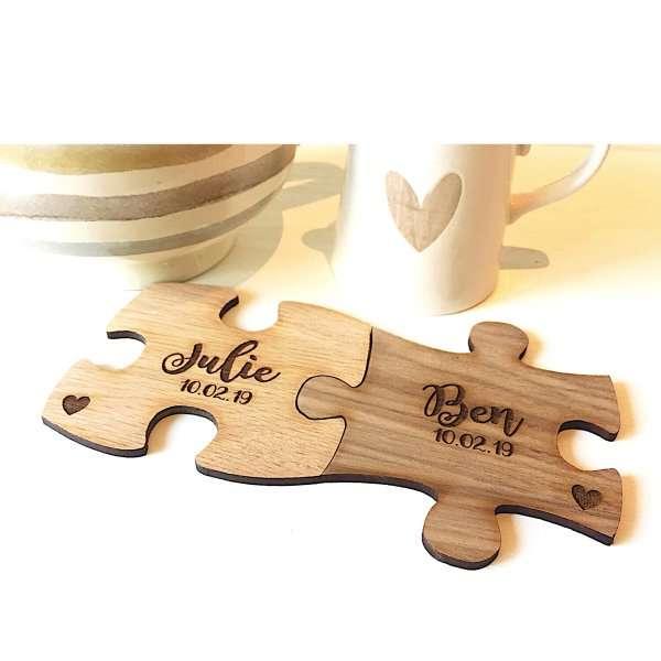 Valentines jigsaw pieces