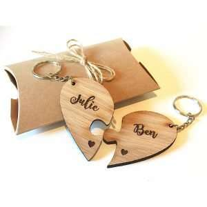 joined hearts keyring - valentines