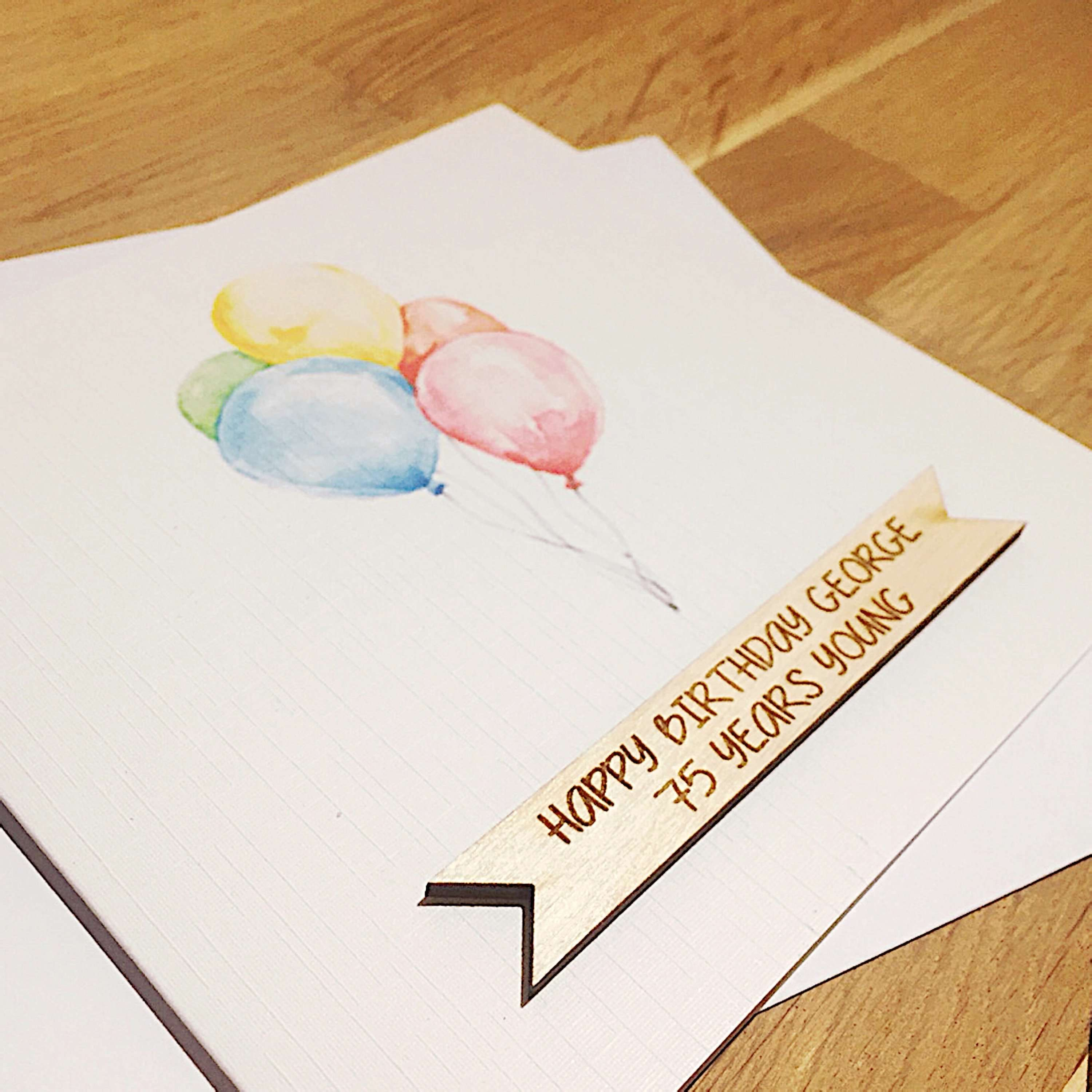 Unusual greetings cards, birthday bespoke.
